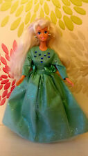 *Beautiful Barbie Doll Wearing Lovely Green Gown & Shoes By Mattel*1990`s