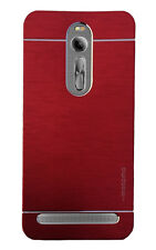 Imported Brush Metallic Hard Back Case,Cover,For Asus Zenfone 2 ZE551ML - Red