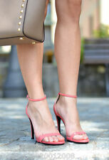 ZARA PINK HIGH HEELED ANKLE STRAP SANDALS SHOES SIZE UK3/EUR36/US6