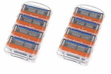 2 Pack of 4 Razor with 5 Layer Blades For Gilette Gillete Fusion Proglide Yellow