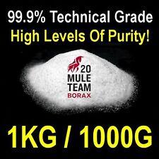 Borax Sodio tetraborate decahydrate 99.9% Puro De Laboratorio De Calidad 1 Kg / 1000 g