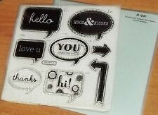Close to My Heart CTMH D1531 WORD BALLOONS ~ CIRCUIT ARTISTE STAMPS