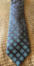 Mens CANALI Blue Medallions Silk Tie Made In Italy