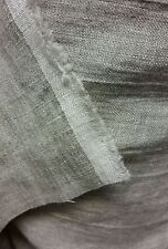 Natural flax linen fabric, organic fabric, pure linen fabric, natural grey linen