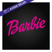 Barbie STICKER HOT PINK 18cm For Girl Doll Decal 4wd Car Wall