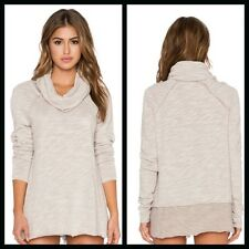 Free People New Cocoon Cowl Pullover Top Tunic NWT in Oatmeal XS/S