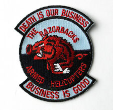 US ARMY VIETNAM ATTACK HELICOPTER RAZORBACKS ARM PATCH