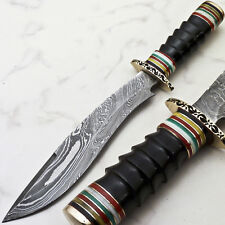 Rody Stan CUSTOM FORGED DAMASCUS BLADE HUNTING KNIFE  | R-4373