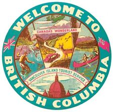 British Columbia - Canada  Vintage-1950's Style Travel Decal  Sticker