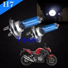 H7 White 5000K Xenon Halogen Headlight 55w Lamp Bulb For KAWASAKI Bike