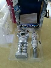 ROBBIE THE MACHINE MAN Interactive Clock Robot w/Infrared Raygun sounds lights