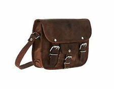 Men's Small Leather satchel Vintage Leather messenger Shoulder Bag for i Pad