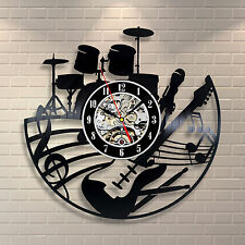 Music Instruments Notes_Exclusive wall clock made of vinyl record_GIFT 182