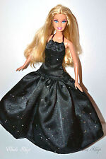 GORGEOUS BARBIE DOLL IN STUNNING BLACK EVENING DRESS