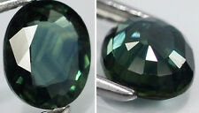 Australia Natural  Clean VVS Greenish Blue Sapphire Oval Cut Germstone 1.20ct