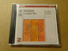 2-DISC CD / SCHUBERT - GRUMIAUX TRIO - BEAUX ARTS TRIO: COMPLETE TRIOS (PHILIPS)