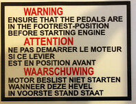 YAMAHA TY50 TY50M TY50P PEDAL CHANGE CAUTION DECAL