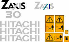 HITACHI ZAXIS 30 MINI DIGGER COMPLETE DECAL SET WITH SAFETY WARNING SIGNS