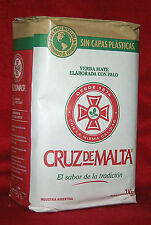 YERBA MATE TEA CRUZ DE MALTA - ONE  2.2 LBS BAG - 1 KG - NEW PACKAGING