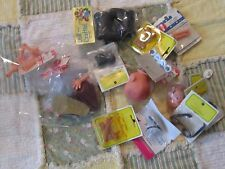 Mixed Lot of doll making craft supplies boots heads eyes arms hands shoes