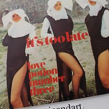 SEXY NUN COVER VOCI BLU LOVE POTION 7 INCH VINYL 1973 FRANCE FREAKBEAT YEH RARE