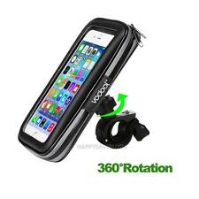 Motorcycle Bicycle Handlebar Holder Mount + Waterproof Bag Case for Cell Phone