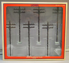 LIONEL FASTRACK SCALE TELEPHONE POLES train building 6-37851
