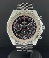 Breitling Bentley Motors A25364 S/ Steel Black Dial 48mm Chronograph with Papers