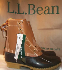 "L.L. Bean Womens 9 M Tan Brown Maine 8"" Duck Bean Boot New"