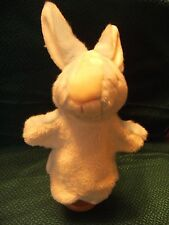 """Blue and  white  Rabbit glove puppet 13"""" approx vgc"""