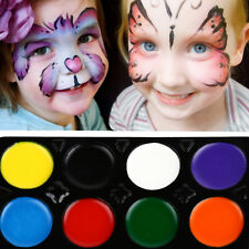 8 Colours Make Up Face Paint Palette Fun Halloween Fancy Painting Kit Set New AY