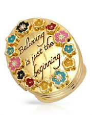 DISNEY`*Believing is just the beginning* Ring in Gold Plated Base Metal.