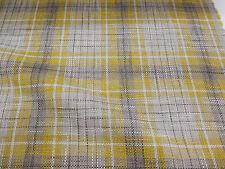 """Gris y Amarillo """"ocre"""" comprobado, a cuadros de tela de tapicería pesada. al siguiente"""