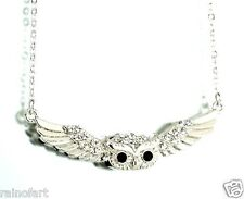 w Swarovski Crystal Owl Cute New Pendant Necklace Jewelry