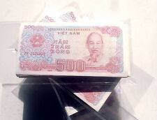 Vietnam 500 Dong Banknote papermoney Full Bundle 100PCS Used Circ Lot Pack