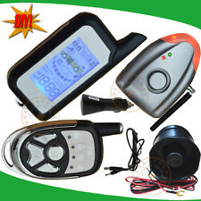 new DIY wireless car alarm 2 way LCD alarm remote shock alarm trigger