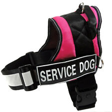 Service Dog Vest Harness Padded Harness for Large Dog Removable 2 Velcro Patches