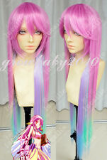 New Cosplay Costume Wig No Game No Life Nogemu Noraifu Jibril Fashion 100cm