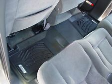 Second Row Black Floor Mat for a 2001 - 2003 GMC Sierra Crew Cab