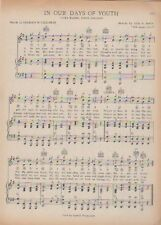 "Vtg. RIDER UNIVERSITY college song sheet ~Trenton, NJ~ ""IN DAYS OF OUR YOUTH"""
