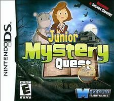 Junior Mystery Quest GAME Nintendo DS DSI XL LITE 3 3DS 2 2DS **FREE SHIPPING!!