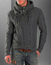 Men's Hand Knitted V-neck Sweater XS,S,M,L,XL,XXL Wool Hand Knit pullover 1