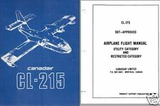 CANADAIR CL-215 AMPHIBIOUS FLYING BOAT MANUALS ARCHIVE 1969   Scooper HISTORIC