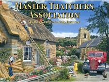 Thatched Cottage Building Old Vintage Classic Lorry Truck Large Metal/Tin Sign