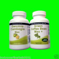 90 Garcinia Cambogia Pure Extreme Detox Plus 30 Green Coffee Bean Extract Diet