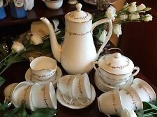 Royal worcester porcelaine fine or chantilly service à café x 6