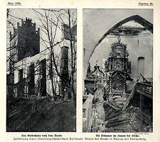 Brand der Kirche in Tharau bei Königsberg * Historische Aufnahmen von 1911