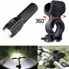 360°Mount Clip NEW CREE T6 LED 3 Mode Flashlight 3000lm Bicycle Bike Zoomable