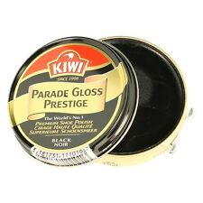 Kiwi Parade Gloss Prestige Black Shoe Polish Premium Wax Shoe Army Boot Polish