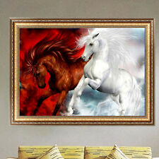 Two Horse 5D DIY Diamond Painting Mosaic Cross Stitch Rhinestone Home Decor